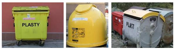 kontajnery zltej farby