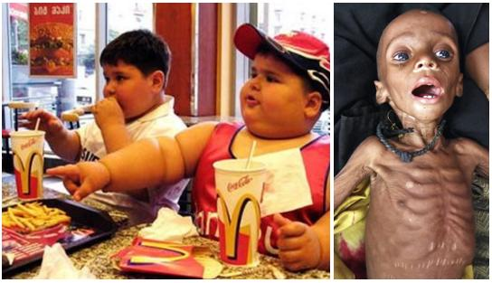 obezita vs hladomor
