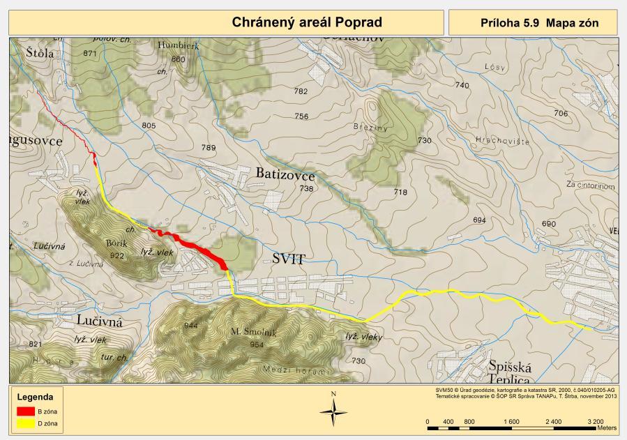 mapa CHA Poprad